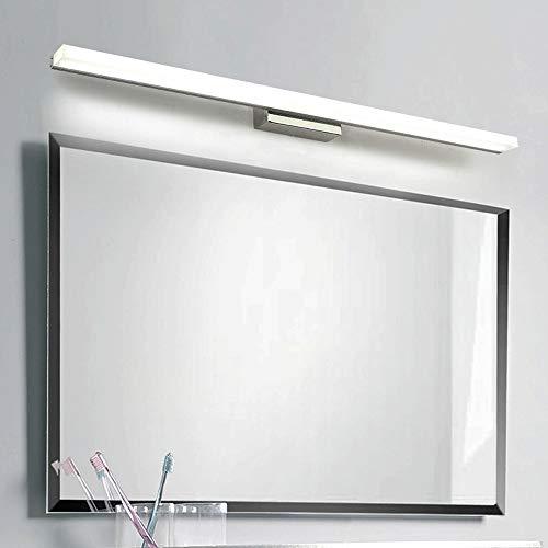 Siet LED Cuarto de baño espejo luz impermeable anti-niebla espejo lámpara espejo espejo luces de pared accesorios de accesorios de iluminación para el lavabo del gabinete de espejo [Clase de e
