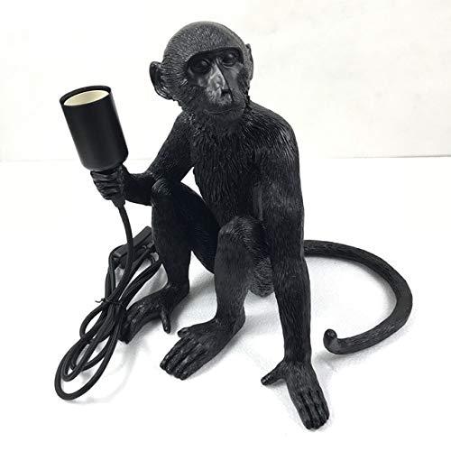 Lámpara de mesa creativa de diseño Monkey. Lámpara de mesa para estudio, industrial, retro, artista, escritorio, lámpara de mesa