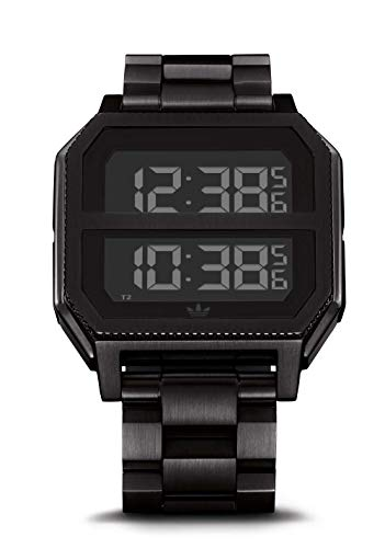Adidas Watches Archive_MR2. Black Stainless Steel, 22mm Band Width (All Black, 41mm Case)