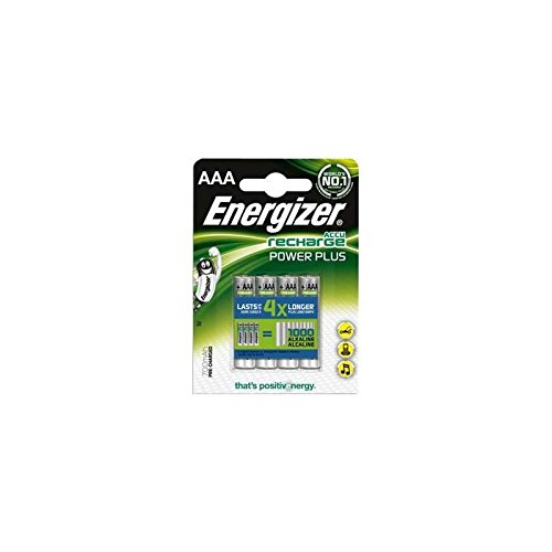 Energizer Original Akku Power Plus Micro AAA (700mAh, 1,2 Volt, 4-er Pack) NiMH Technologie