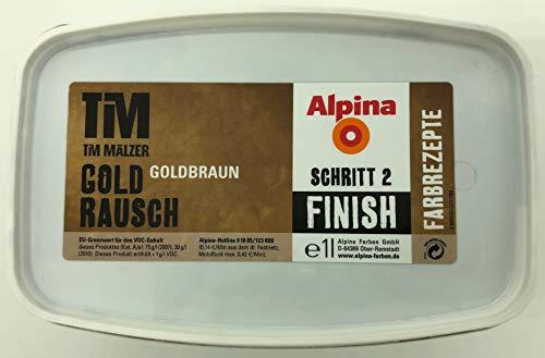 Alpina Farbrezepte Tim Mälzer Gold Rausch FINISH (Schritt 2) 1 Liter für ca. 7-10 m² (Goldbraun)
