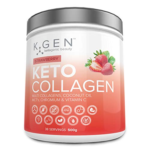 K-GEN Ketogenic Beauty   Keto Collagen Powder with 7500mg Multi Collagen Peptides, 3700mg Coconut MCTs & Vitamin C   for Ketogenic Diets to Develop Beauty from Within   Free-from Sugar & Gluten