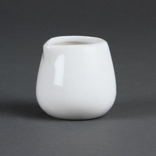 Olympia Lot de 12 Pots à Lait, Blanc, 44 ML Environ