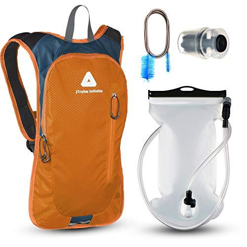 JTRYBE Trinkrucksack zum Laufen, Radfahren, mit Trinkblase 2 l, toller Wasserrucksack zum Wandern, mit Beißventil und Bürste, toller Trinkrucksack für Damen und Herren
