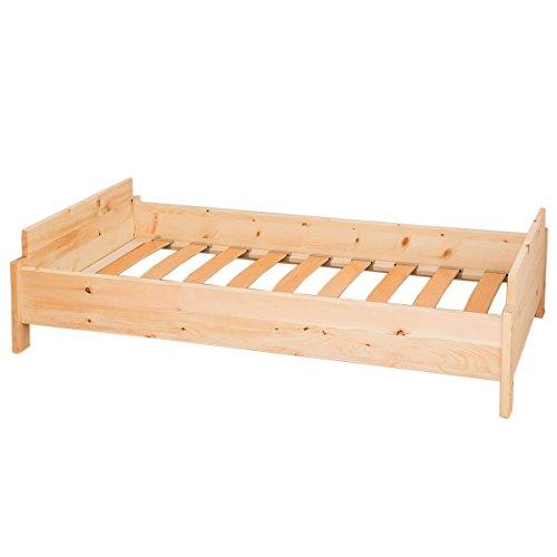 4betterdays.com NATURlich leben! Kinderbett aus Zirbenholz inkl. Lattenrost Liegefläche 140x70 cm Handmade
