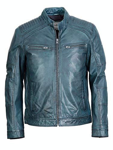 TOM TAILOR Bikerlederjacke TT1096 Jupiter (Blue, L)