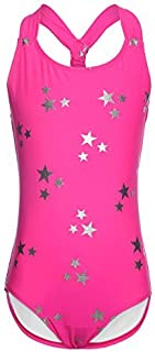 BELLOO Bathing Suits for Girls, Race Back Girls Swimsuit, Size 4-16
