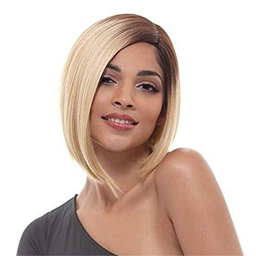 Deterioro parcial de las señoras Dyeing Headgear, peluca sintética de seda de alta temperatura, rol que juega a la resistencia al calor Pelo de fibra resistente al calor ( Color : Gold , Size : 33cm )