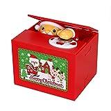 Fengshop Hucha Navidad con Monedas Hucha Musical Travesura de Santa Robo de Monedas Hucha automática Stealing Regalo Creativo Dinero Contador Digital Hucha