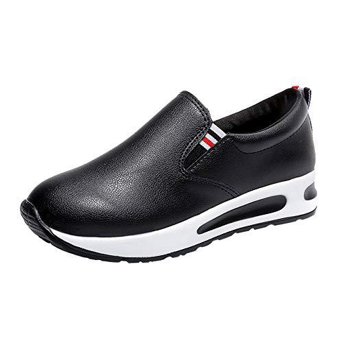 Fannyfuny Damen Plateau Sneaker Wedges Dicker Boden Turnschuhe Straßenlaufschuhe Frauen Outdoor Freizeit Fitness Sportschuhe Running Schuhe Atmungsaktiv Running Schuhe Weiche Sohle Faule Schuhe 35-39