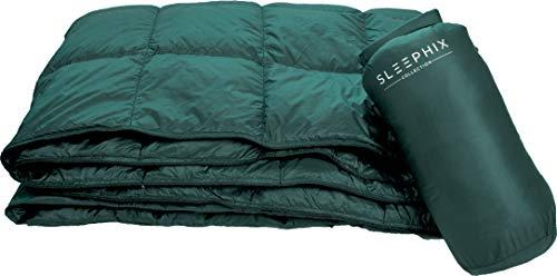 SLEEPHIX Daunen Outdoor Camping Decke | Wasserabweisend | Nylon Hülle mit Daunenfüllung | Ideal für Camping, Flugzeugreisen, Segeln, Terrasse und Heimnutzung | Füllkraft: 650