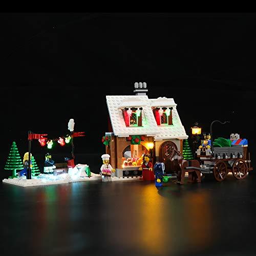 BRIKSMAX Kit de Iluminación Led para Lego Creator La Pastelería del Pueblo en Navidad,Compatible con Ladrillos de Construcción Lego Modelo 10216, Juego de Legos no Incluido