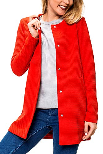 ONLY Damen Übergangsmantel Kurzmantel Leichte Jacke Chic Business Coat (S, High Risk Red)