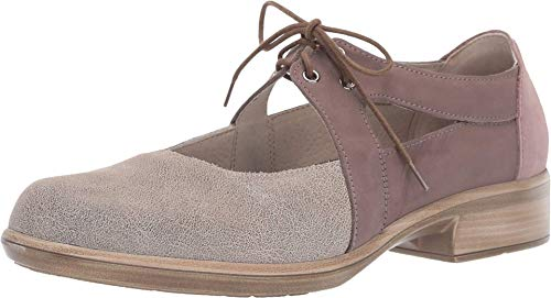 NAOT Footwear Women's Lace-up Alisio Shoe Speckled Beige Lthr/Shiitake Nubuck/Mauve Nubuck 11 M US