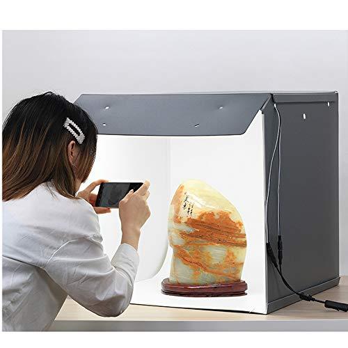 EET Tragbare Fotografie Light Box mit 2 LED-Lichtleiste, Wasserdichtes Material Magnetischer Lampe Gürtel, Folding Foto-Studio Lichtzelt Schießen Zelt Kit