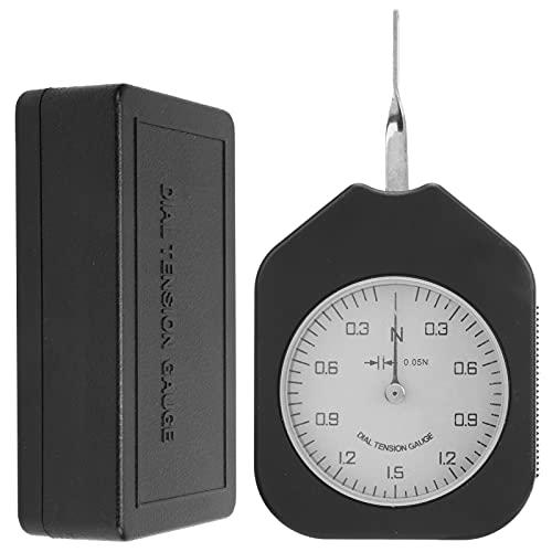 Qinyayoa Medidor de tensión de dial, medidor de tensión de una Sola Aguja, medidor de Fuerza de gramo Sen-1.5-1 para presión de Punta de relé para Interruptor electrónico