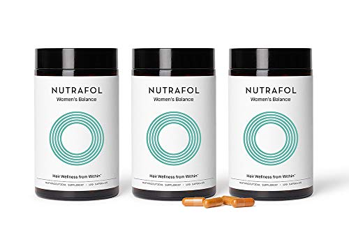 Nutrafol Women's Balance Hair Growth Supplement for Thicker, Stronger Hair Peri and Post Menopause (4 Capsules Per Day - 3 Bottles - 3 Month Supply)