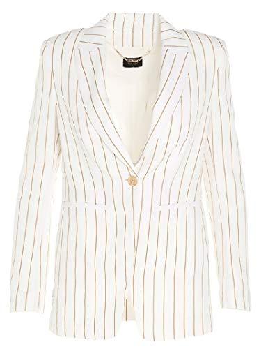Liu Jo Luxury Fashion Damen CA0051T2388U9849 Weiss Viskose Blazer | Frühling Sommer 20