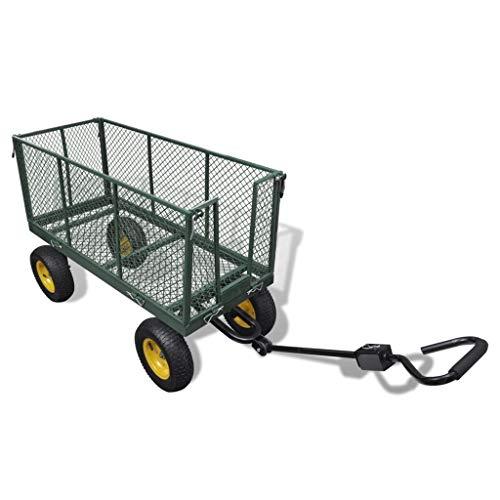 vidaXL Handwagen Garten Bollerwagen Transportkarre Gerätewagen Transportbeutel