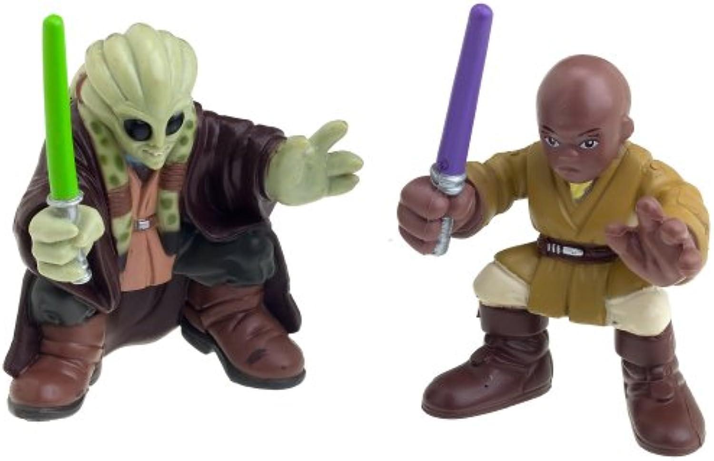Star Wars Episode 3 Junior Figure 2 Pack Mace Windu & Kit Fisto