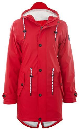 Michael Heinen Winterjacke Damen Regenjacke Wasserdicht - Friesennerz Rot 4XL - Outdoor Jacke Parka