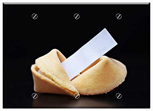 Triple Blank Wall Plate Cover - Fortune Cookies Sweet Pastries Pastries