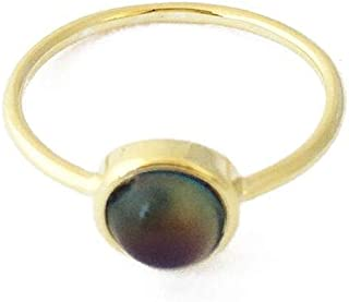 9ct gold mood ring