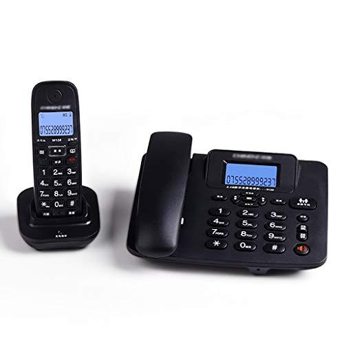 YGB Nuevo identificador de Llamadas de teléfono con Cable, Funciones de rellamada Manos Libres Teléfono de Escritorio con Cable con Altavoz - Blanco/Negro (Color: Negro)