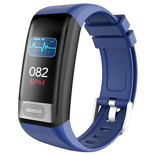 Smart Sports Fitness pulsera IP67 impermeable Rastreador de presión arterial de frecuencia cardíaca monitoreo del sueño oxígeno calorías contador de pasos reloj para niños Hombres Mujeres (blue)