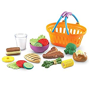 Learning Resources New Sprouts Dinner Foods Basket, Pretend Play Food, 18 Pieces, Ages 18 mos+ - 418SX ToY2L - Learning Resources New Sprouts Dinner Foods Basket, Pretend Play Food, 18 Pieces, Ages 18 mos+
