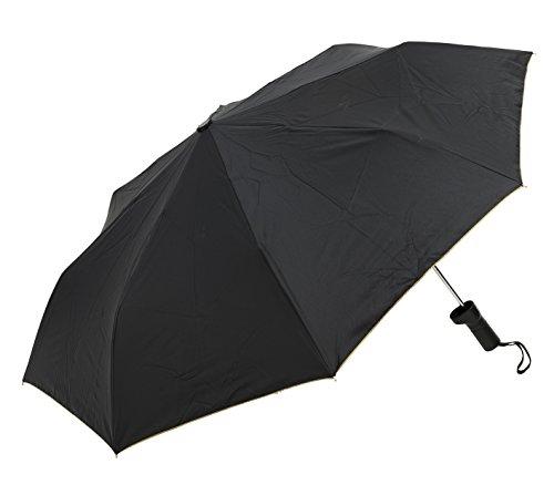 waterfront(ウォーターフロント) ブラック 55cm バッグに優しい傘 8本骨 UVカット 99%以上 BG355UH-BK