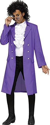 * Lowest Price * Fun World Men's Purple Rain Pop Star Costume, Standard Size