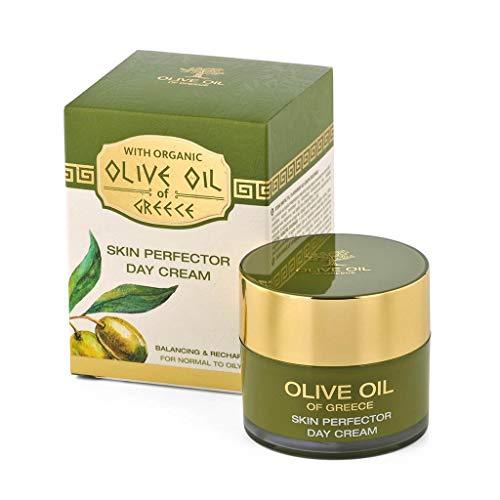 BioFresh Crème de jour avec huile d'olive biologique et acide hyaluronique, pour peaux normales à grasses – SKIN Perfector Day Cream for Normal To Oily Skin Olive Oil of Greece 50 ml