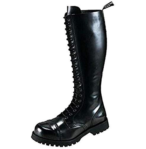 Boots & Braces - 20 Loch Stiefel Rangers Schwarz Größe 44 (UK10)