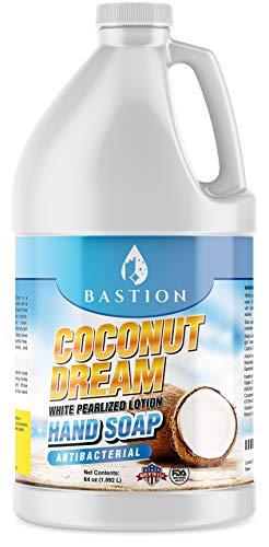 Antibacterial Hand Soap - Coconut Dream Moisturizing Pearlized Liquid Hand Wash - 1/2 Gallon (64 oz.) Bulk. Refill Jug. Coconut Dream Scented. Non-toxic. Made in the USA.