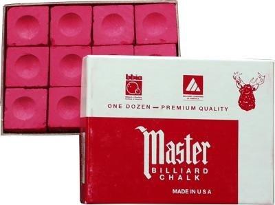 Billard Kreide Master rot, Dtzd. (12 Stück Box)