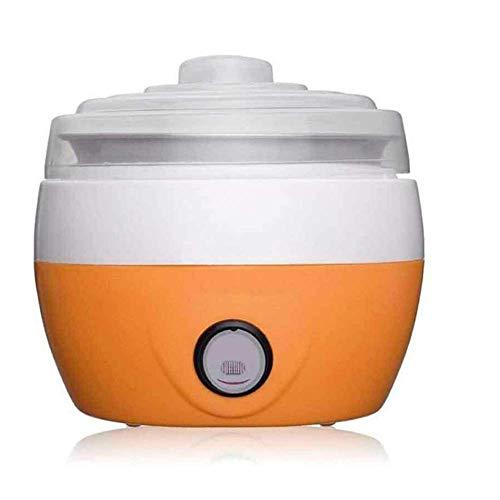 WLGQ Tragbare Mini-Autostart-Joghurtmaschine kann auf 360 Grad erhitzt Werden, geeignet für Männer, Frauen und Kinder, orange