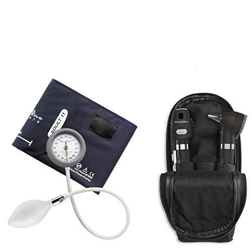 Kit Otoscopio E Oftalmoscopio Pocket Plus Preto + Esfigmomanometro Durashock
