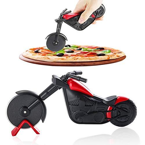 Cortador de Pizza Para Motocicleta,Rodillo Para Pizza Acero Inoxidable,Revestimiento Antiadherente,Herramientas Creativas,Exquisitos Regalos de Cocina
