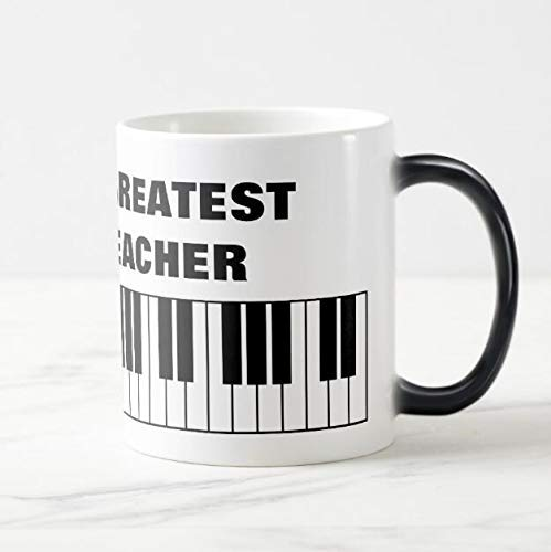 Piano Teacher Magische Mok Cups Creative Gifts for Piano Teacher Fashion Pianotoets Color Chaning Cups LMMS