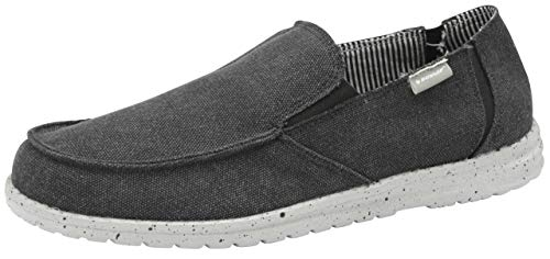 Dunlop Mens Soft Padded Casual Comfy Canvas Slip On Lightweight Outdoor...