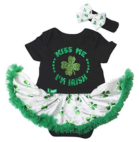 Petitebelle Kiss Me I'm Irish Clover Robe bébé Nb-18m - Vert - M