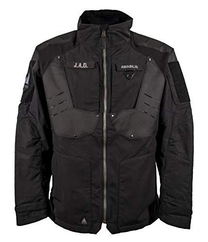 Amabilis Responder Men's NYCO-Softshell Tactical Jacket, Military/Tactical Outerwear, Black - Size Medium