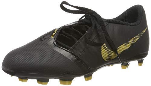 Nike Jungen Unisex-Kinder Jr Phantom Venom Club Fg Fußballschuhe, Mehrfarbig (Black/MTLC Vivid Gold 077), 30 EU