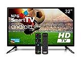 Téléviseur LED 32' HD NPG Smart TV Android + clavier QWERTY/Motion. Enregistreur WiFi Bluetooth TDT2 H.265 USB