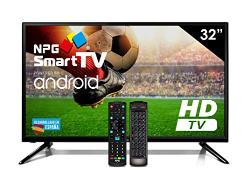 Televisor LED 32' HD NPG Smart TV Android + Teclado QWERTY/Motion. WiFi Bluetooth TDT2 H.265 USB Grabador
