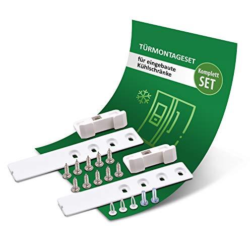 Türmontageset Ersatz für Liebherr 9086322 Scharnier Schleppscharnier Schiene Gleitschiene Schlepptürscharnier Montageset für Kühlschrank Gefrierschrank