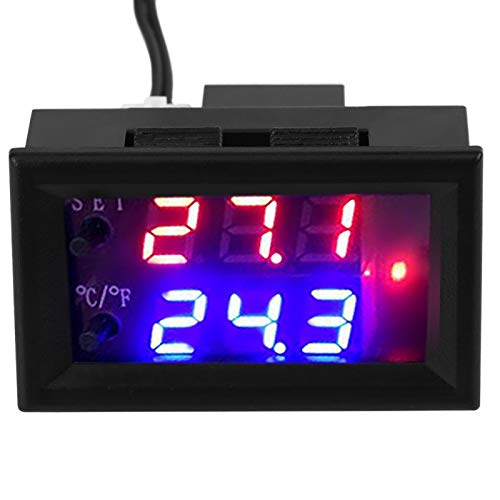 Controlador de temperatura con pantalla digital, interruptor de temperatura inteligente, con sensor conveniente para el área de eclosión de la caja del equipo