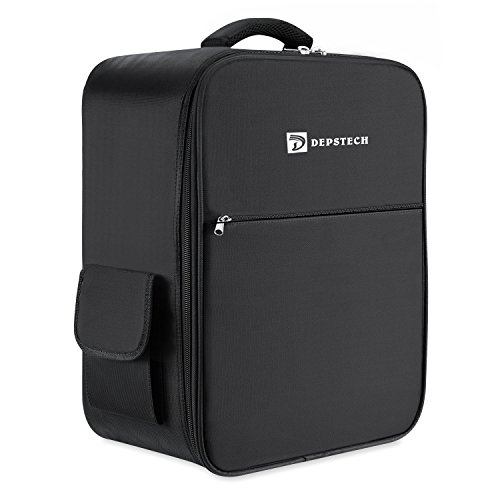 Depstech Waterproof Backpack Case for DJI Phantom 3 Professional, Advanced, Standard, 4K Quadcopter Drone and Accessories-Black