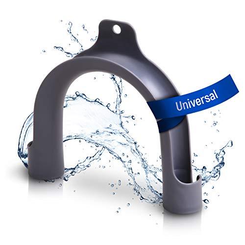 Soporte para manguera, arco de sujeción de PVZ, para Bosch, Siemens, Beko, Bauknecht, Miele, Constructa, tubo de desagüe para lavadora, lavavajillas y accesorios de lavadoras